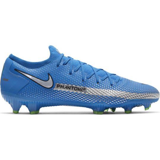 Nike Phantom GT Pro Gras Voetbalschoenen (FG) Blauw Zilver Groen