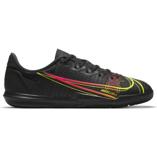 Nike Mercurial Vapor 14 Academy Zaalvoetbalschoenen (IC) Kids Zwart Geel