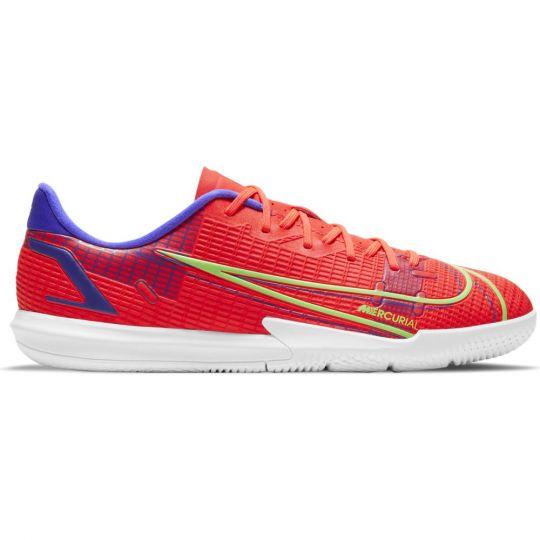 Nike Mercurial Vapor 14 Academy Zaalvoetbalschoenen (IC) Kids Rood Zilver