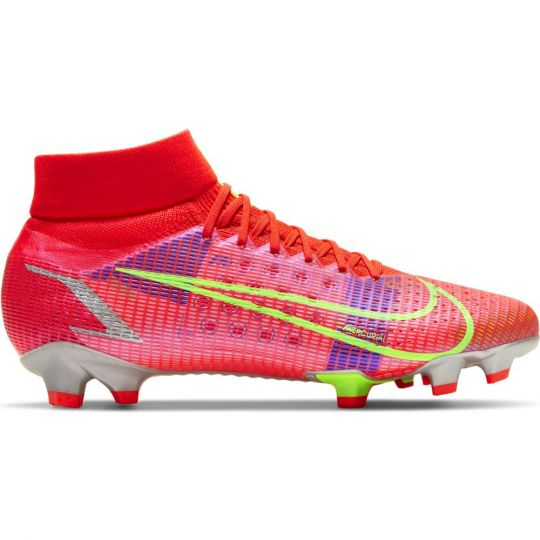 Nike Mercurial Superfly 8 Pro Gras Voetbalschoenen (FG) Rood Zilver