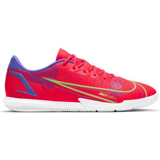 Nike Mercurial Vapor 14 Academy Zaalvoetbalschoenen (IC) Rood Zilver