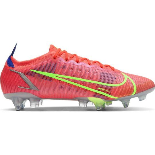 Nike Mercurial Vapor 14 Elite Ijzeren-Nop Voetbalschoenen Anti-Clog (SG) Rood Zilver