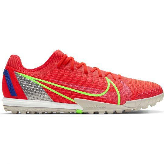 Nike Mercurial Vapor 14 Zoom Pro Turf Voetbalschoenen (TF) Rood Zilver