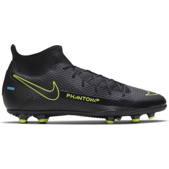 Nike Phantom GT Club DF Gras / Kunstgras Voetbalschoenen (MG) Zwart Geel Blauw