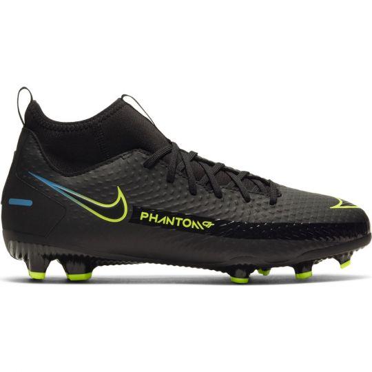 Nike Phantom GT Academy DF Gras / Kunstgras Voetbalschoenen (MG) Kids Zwart Geel Blauw