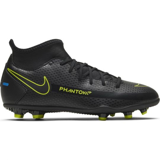 Nike Phantom GT Club DF Gras / Kunstgras Voetbalschoenen (MG) Kids Zwart Geel Blauw