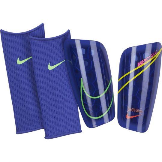Nike Mercurial Lite Scheenbeschermers Blauw Geel Groen