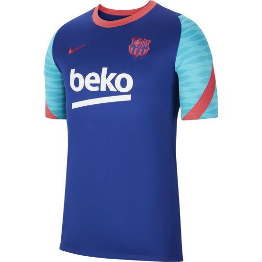 Nike FC Barcelona Strike Trainingsshirt 2021 Blauw Rood
