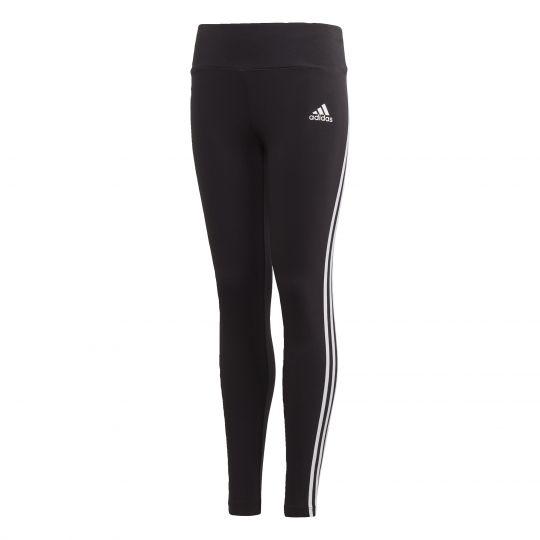 adidas 3-Stripes Cotton Legging Kids Zwart Wit
