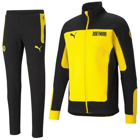 PUMA Borussia Dortmund evoSTRIPE Full Zip Trainingspak 2021 Geel Zwart