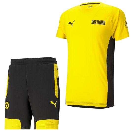 PUMA Borussia Dortmund Evostripe Trainingsset 2021 Geel Zwart