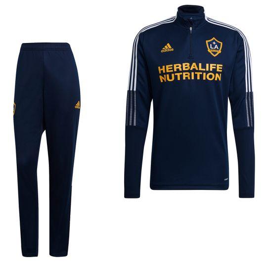 adidas LA Galaxy Trainingspak 2021-2022 Donkerblauw
