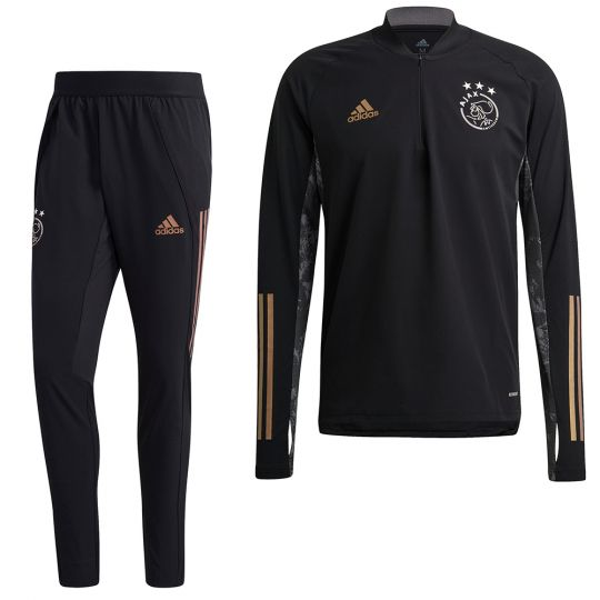 adidas Ajax Ultimate Trainingspak Europees 2020-2021 Zwart Goud