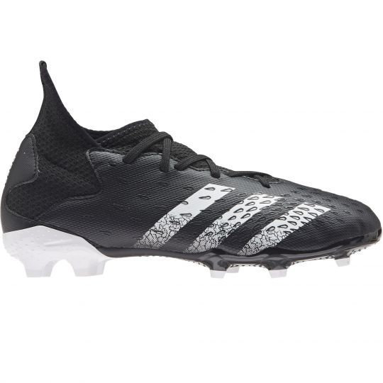 adidas Predator Freak.3 Gras Voetbalschoenen (FG) Kids Zwart Wit Zwart