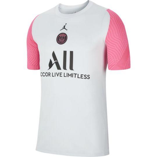 Nike Paris Saint Germain Strike Trainingsshirt 2021 Kids Platinum Roze Zwart