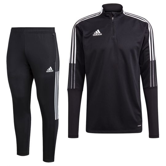 adidas Tiro 21 Trainingspak Zwart Wit