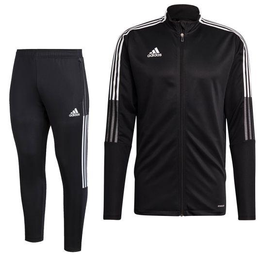 adidas Tiro 21 Full Zip Trainingspak Zwart Wit