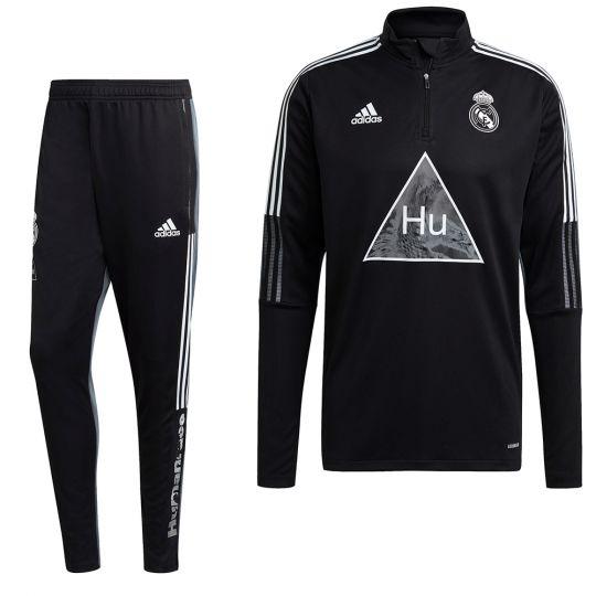 adidas Real Madrid HUFC Trainingspak 2020-2021 Zwart Grijs