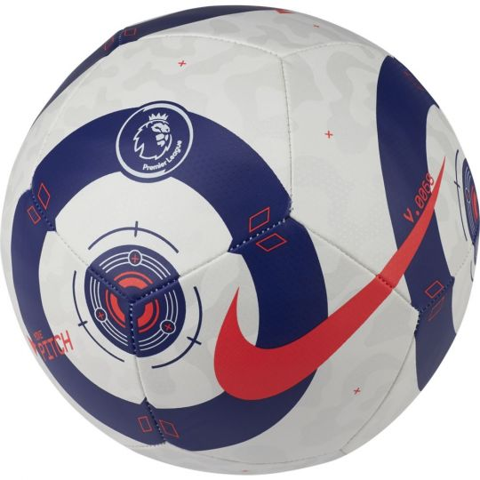 Nike Flight Premier League Pitch Voetbal Maat 5 Wit Blauw Rood