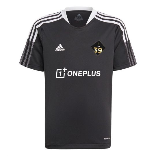 adidas Team 39 Trainingsshirt Kids Zwart Wit