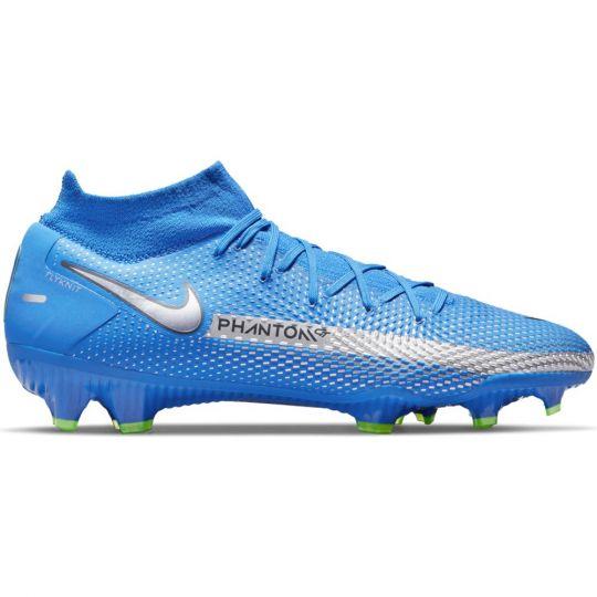 Nike Phantom GT Pro DF Gras Voetbalschoenen (FG) Blauw Zilver Groen