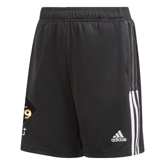 adidas Team 39 Trainingsbroekje Kids Zwart Wit