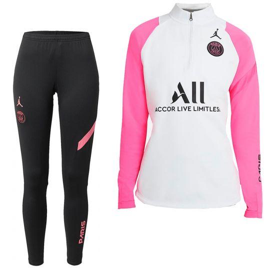 Nike Paris Saint Germain Academy Pro Trainingspak 2021 Vrouwen Platinum Roze Zwart