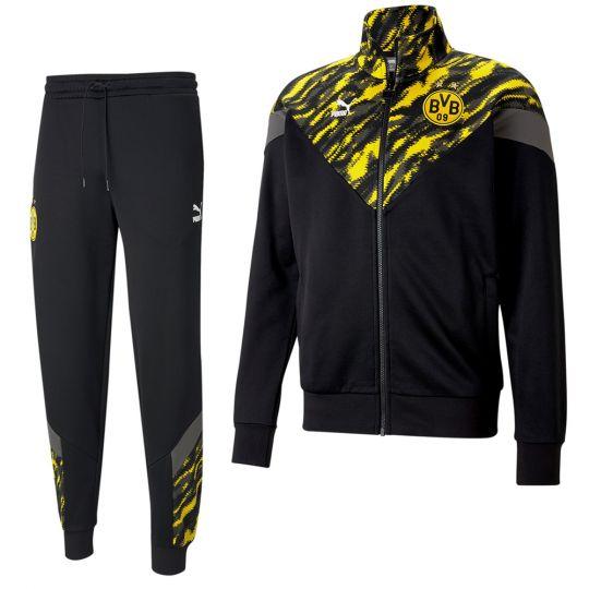 Puma Borussia Dortmund Iconic Trainingspak 2020-2021 Zwart Geel