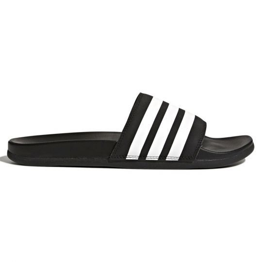 adidas Adilette Cloudfoam Plus Stripes Slippers Zwart