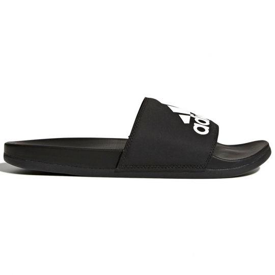 adidas Adilette Cloudfoam Plus Logo Slippers Black White