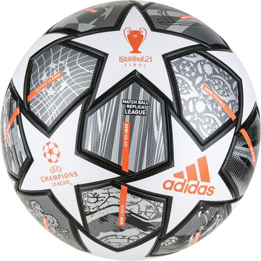adidas Champions League Finale 21 League Voetbal Wit Donkergrijs Zwart