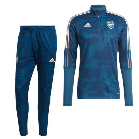 adidas Arsenal AOP Trainingspak 2020-2021 Donkerblauw Roze