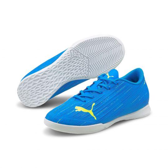 PUMA Ultra 4.2 Zaalvoetbalschoenen Kids Blauw Geel