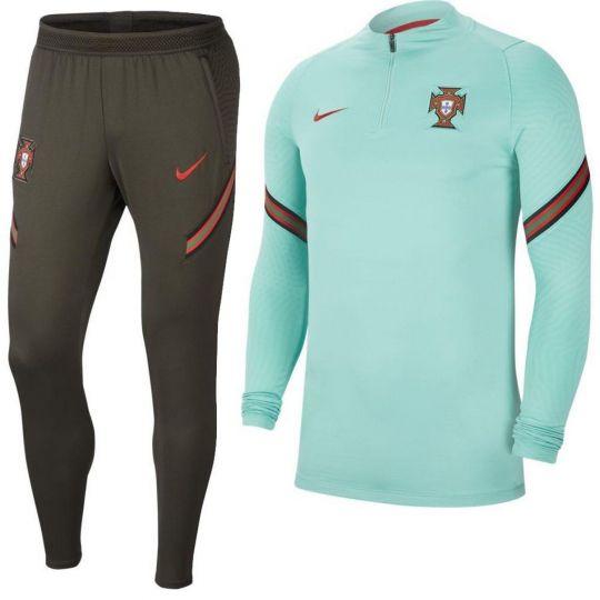 Nike Portugal Strike Drill Trainingspak 2020-2022 Lichtgroen Donkergroen