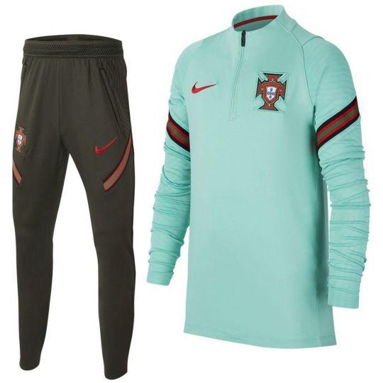 Nike Portugal Strike Trainingspak 2020-2022 Kids Lichtgroen Donkergroen