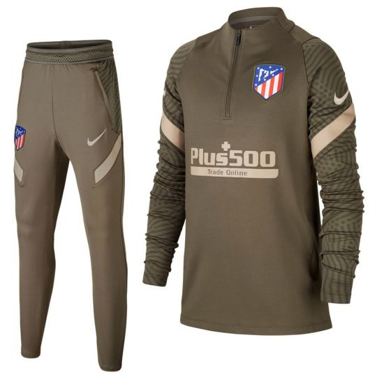 Nike Atletico Madrid Strike Drill Trainingspak 2020-2021 Kids Groen