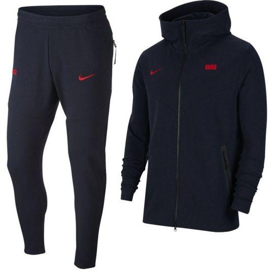 Nike Frankrijk Tech Fleece Pack Trainingspak 2020-2022 Donkerblauw