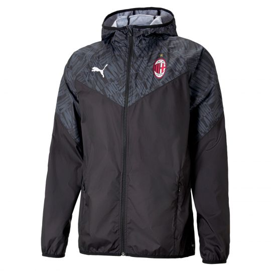 PUMA AC Milan Warmup Trainingsjack 2021 Zwart Rood