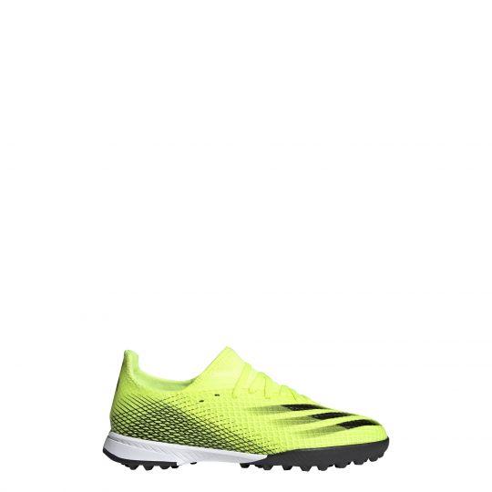 adidas X Ghosted.3 Turf Voetbalschoenen (TF) Kids Geel Wit