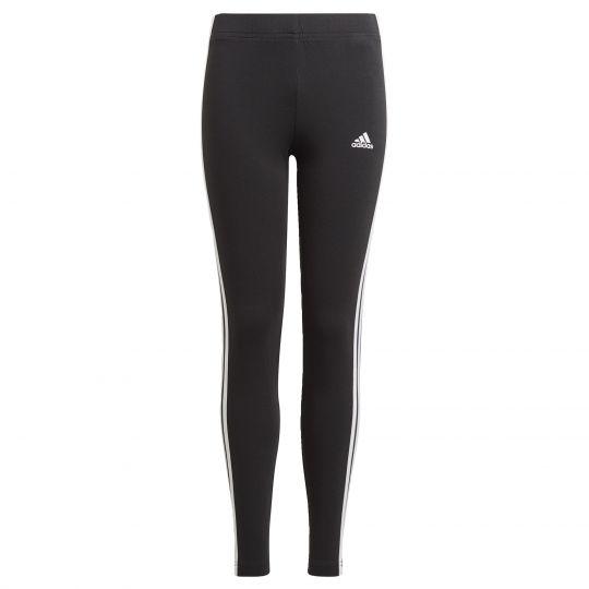 adidas Essentials 3-Stripes Legging Kids Zwart Wit