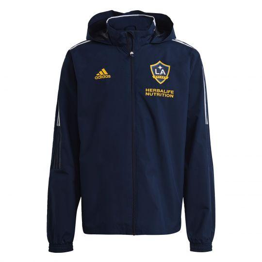 adidas LA Galaxy All-Weather Jas 2021 Donkerblauw