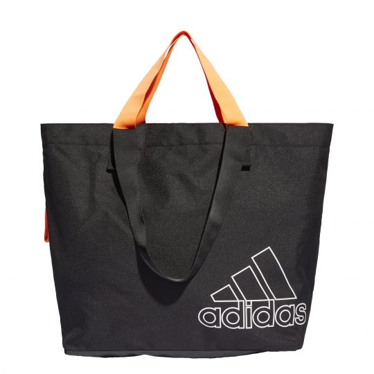 adidas Sports Canvas Schoudertas Zwart Oranje