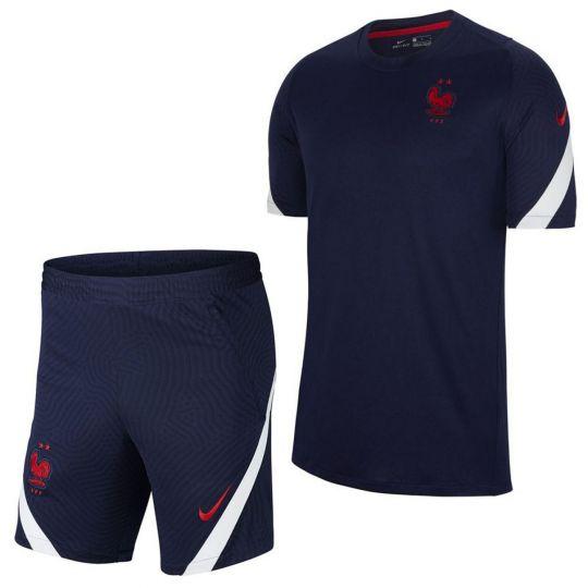 Nike Frankrijk Strike Trainingsset 2020-2022 Donkerblauw