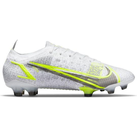 Nike Mercurial Vapor 14 Elite Gras Voetbalschoenen (FG) Wit Zwart Zilver Geel