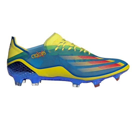 adidas X Ghosted.1 Gras Voetbalschoenen (FG) Blauw Rood Geel