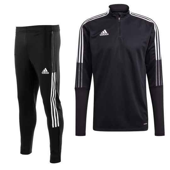 adidas Tiro 21 Trainingspak Zwart Wit