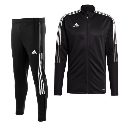 adidas Tiro 21 Full Zip Trainingspak Zwart Wit