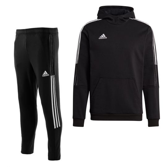 adidas Tiro 21 Sweat Trainingspak Zwart Wit