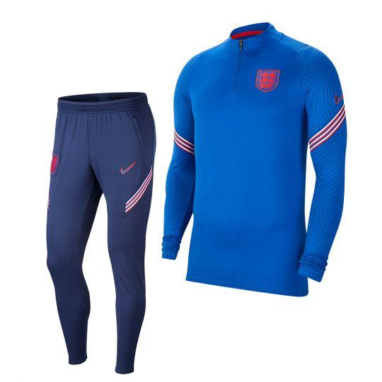 Nike Engeland Strike Trainingspak 2020-2022 Blauw Rood
