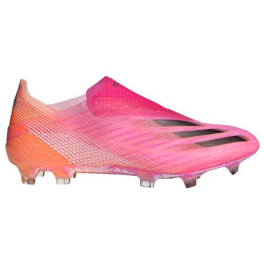 adidas X Ghosted+ Gras Voetbalschoenen (FG) Roze Zwart Oranje